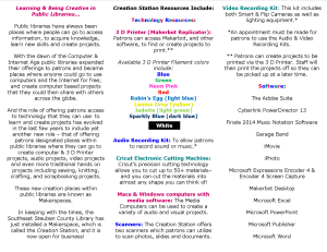 Creation Station Brochure July 14, 2015 Side A