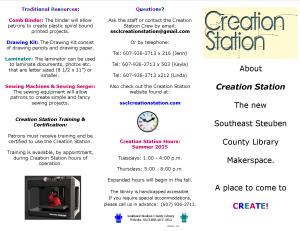 Creation Station Brochure July 14, 2015 Side B