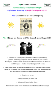 Dig Lit Summer Reading Raffle Poster Week 3 July 20, 2015