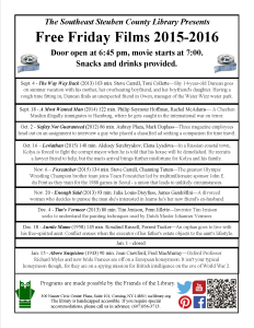 Friday Night Free Films @ SSCL 2015 - 2016 List Page 1 of 2