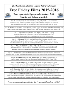 Friday Night Free Films @ SSCL 2015 - 2016 Page 2 of 2